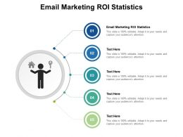 Email Marketing ROI Statistics Ppt Powerpoint Presentation Show Layouts Cpb