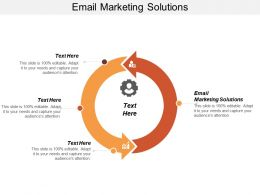Email Marketing Solutions Ppt Powerpoint Presentation Icon Graphics Pictures Cpb