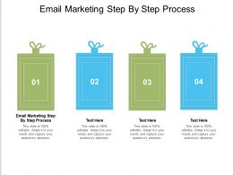 Email Marketing Step By Step Process Ppt Powerpoint Presentation Inspiration Grid Cpb