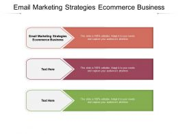 Email Marketing Strategies Ecommerce Business Ppt Powerpoint Presentation Infographics Guidelines Cpb