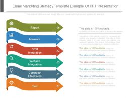 Email Marketing Strategy Template Example Of Ppt Presentation