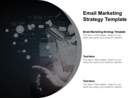 Email Marketing Strategy Template Ppt Powerpoint Presentation Icon Influencers Cpb