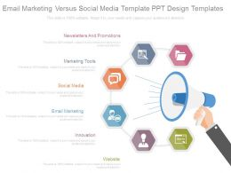 Email Marketing Versus Social Media Template Ppt Design Templates