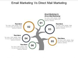 Email Marketing Vs Direct Mail Marketing Ppt Powerpoint Presentation Icon Gallery Cpb