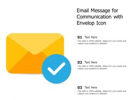 Email Message For Communication With Envelop Icon
