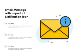 Email Message With Important Notification Icon