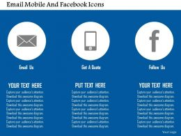 Email Mobile And Facebook Icons Flat Powerpoint Design