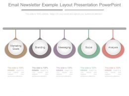 Email Newsletter Example Layout Presentation Powerpoint