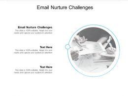 Email Nurture Challenges Ppt Powerpoint Presentation Pictures Graphics Tutorials Cpb