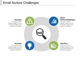 Email Nurture Challenges Ppt Powerpoint Presentation Summary Slides Cpb