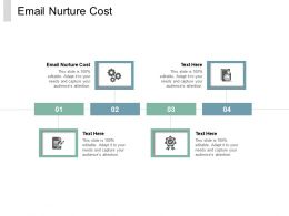 Email Nurture Cost Ppt Powerpoint Presentation Icon Introduction Cpb