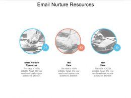 Email Nurture Resources Ppt Powerpoint Presentation Summary Grid Cpb
