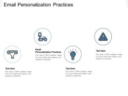 Email Personalization Practices Ppt Powerpoint Presentation Show Backgrounds Cpb