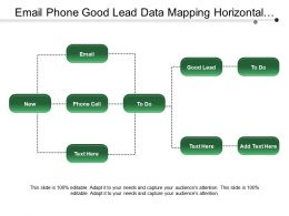 Email Phone Good Lead Data Mapping Horizontal Flowchart
