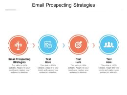 Email Prospecting Strategies Ppt Powerpoint Presentation Background Images Cpb