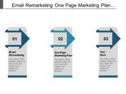 Email Remarketing One Page Marketing Plan Promotion Ideas Cpb