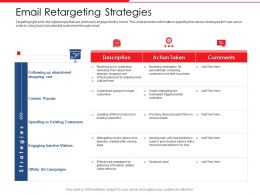 Email Retargeting Strategies Following Up Next Powerpoint Presentation Icons