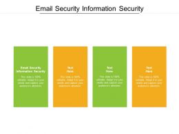 Email Security Information Security Ppt Powerpoint Presentation Inspiration Samples Cpb