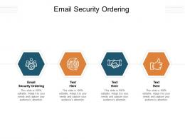 Email Security Ordering Ppt Powerpoint Presentation Ideas Design Ideas Cpb