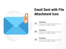 Email Sent With File Attachment Icon