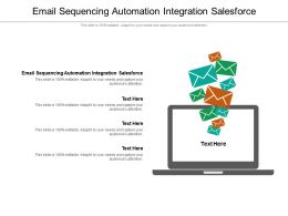 Email Sequencing Automation Integration Salesforce Powerpoint Presentation Model Cpb