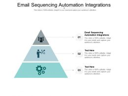 Email Sequencing Automation Integrations Ppt Powerpoint Presentation Professional Inspiration Cpb