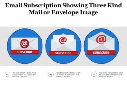 Email Subscription Showing Three Kind Mail Or Envelope Image