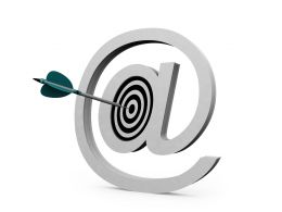 Email Symbol And Concept Target Stock Photo