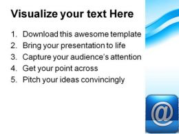 Email Symbol Communication PowerPoint Template 0810  Presentation Themes and Graphics Slide03