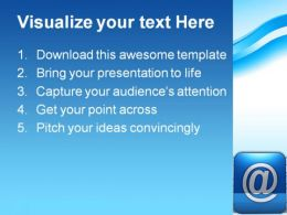Email Symbol Communication PowerPoint Template 0810  Presentation Themes and Graphics Slide02