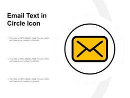 Email Text In Circle Icon