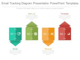 Email Tracking Diagram Presentation Powerpoint Templates