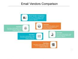 Email Vendors Comparison Ppt Powerpoint Presentation Summary Mockup Cpb