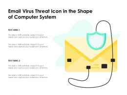 Email Virus Threat Icon In The Shape Of Computer System