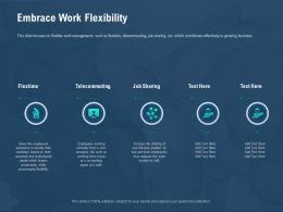 Embrace Work Flexibility Two Part Time Ppt Powerpoint Presentation Styles Background Images