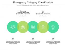 Emergency Category Classification Ppt Powerpoint Presentation Icon Slides Cpb