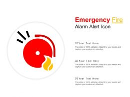 Emergency Fire Alarm Alert Icon