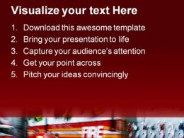 Emergency Fire Trucks Transportation PowerPoint Templates And PowerPoint Backgrounds 0411  Presentation Themes and Graphics Slide02