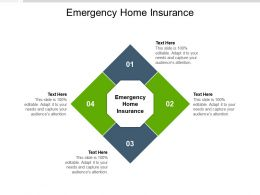 Emergency Home Insurance Ppt Powerpoint Presentation Infographics Cpb