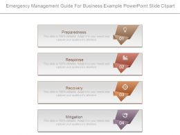 Emergency Management Guide For Business Example Powerpoint Slide Clipart