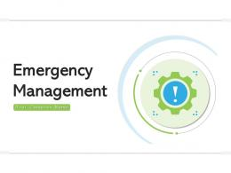 Emergency Management Instructions Professionals Process Strategies Planning