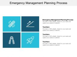 Emergency Management Planning Process Ppt Powerpoint Presentation Show Deck Cpb