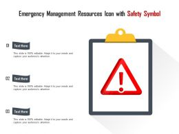Emergency Management Resources Icon With Safety Symbol