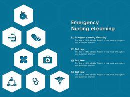 Emergency Nursing Elearning Ppt Powerpoint Presentation File Designs Download