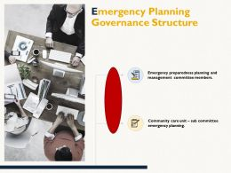 Emergency Planning Governance Structure Management Committee Ppt Powerpoint Presentation Infographics Show