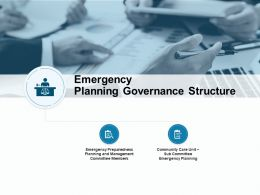 Emergency Planning Governance Structure Ppt Powerpoint Presentation File Graphics