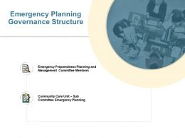 Emergency Planning Governance Structure Team Work Ppt Powerpoint Presentation File Designs
