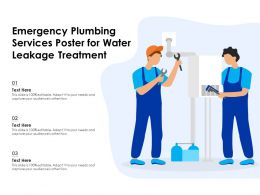 Emergency Plumbing Services Poster For Water Leakage Treatment