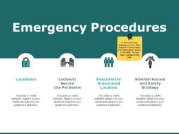 Emergency Procedures Location Ppt Powerpoint Presentation File Vector