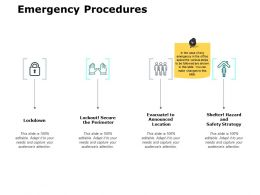 Emergency Procedures Lockdown Ppt Powerpoint Presentation File Pictures